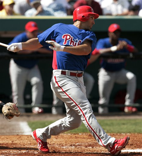 Raul Ibanez hit his 15th homer yesterday in the Phillies 12-5 win over the Reds.