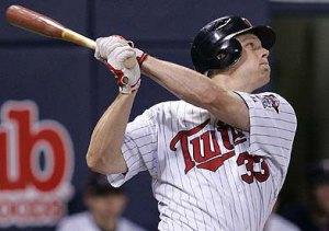 Twins 1st baseman Justin Morneau
