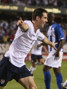 Carlos Bocanegra celebrates his goal